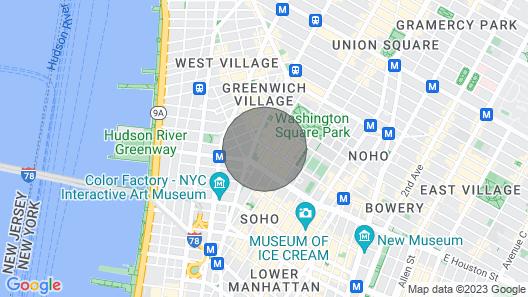 Cozy Studio-premium Location in the Village! Map