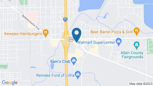 Motel 6 Lima, OH Map