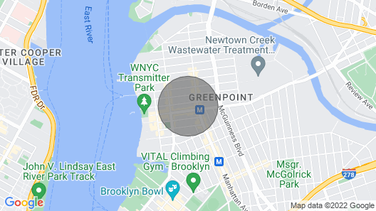 Lovely 1 Bedroom in Greenpoint, Brooklyn Map