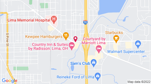 Country Inn & Suites by Radisson, Lima, OH Map