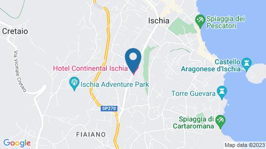 Hotel Continental Ischia Map