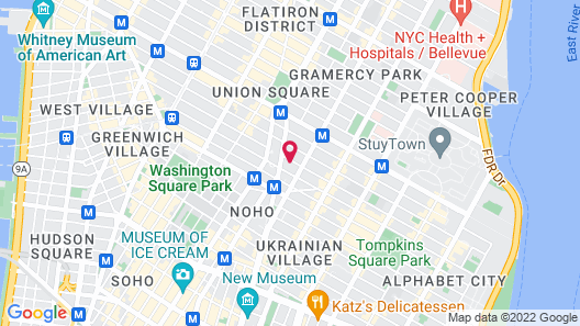 Moxy NYC East Village Map