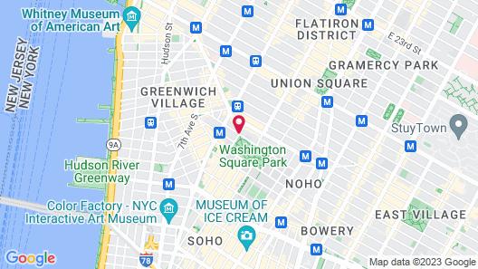 Washington Square Hotel Map