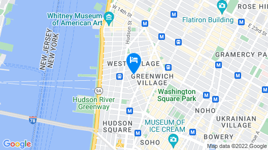 Quiet one Bedroom Apartment in West Village Map