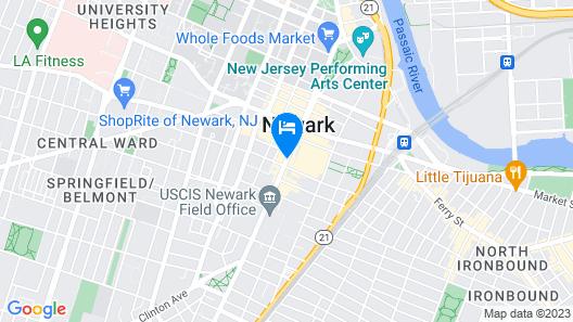 Courtyard by Marriott Newark Downtown Map