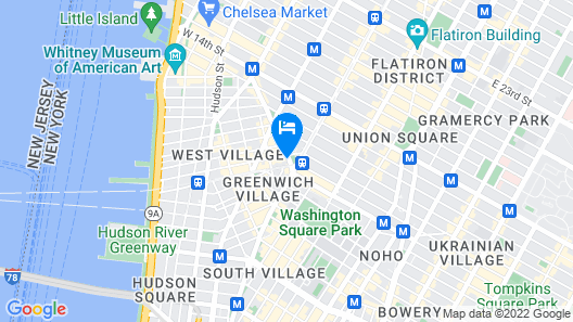 Park View Apartment in Greenwich Village Map