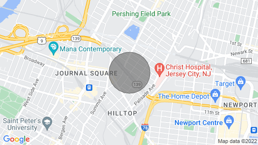 Cozy 2BR  2BA Apartment Close to NYC Map
