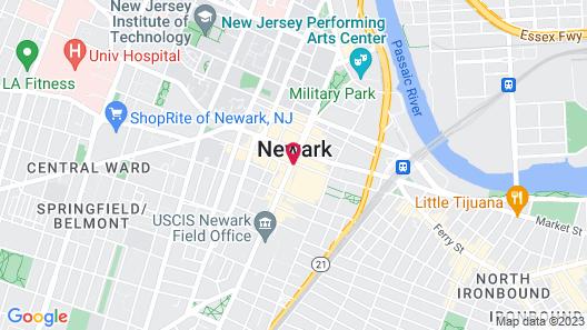Hotel Indigo Newark Downtown, an IHG Hotel Map