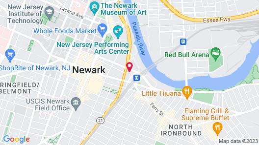 DoubleTree by Hilton Newark Penn Station Map