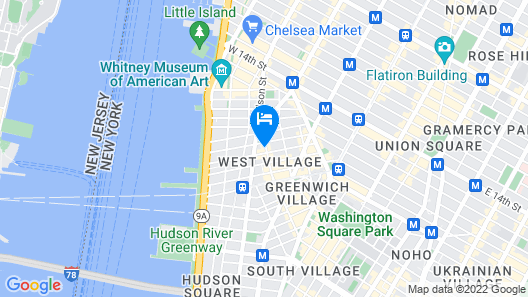West Village 2 BR and Private Roof Deck Map