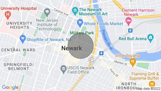 Downtown Luxury 1BR Gem- 5 min walk to Prudential - Rooftop Terrace Map