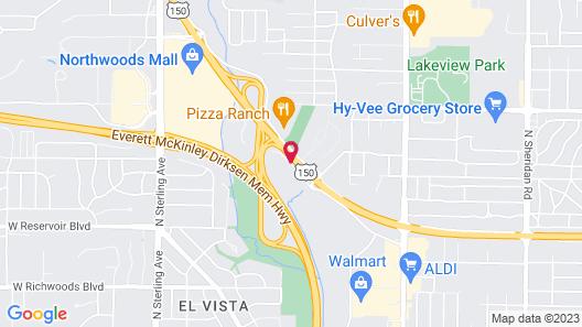 Super 8 by Wyndham Peoria Map