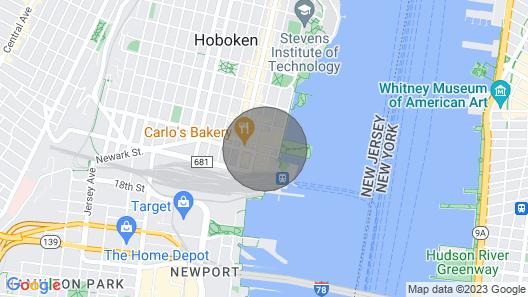 Urban Hoboken Studio - 10min to NYC Map