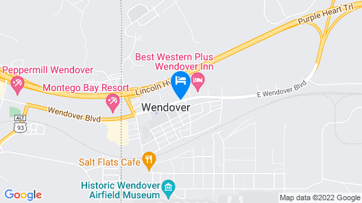 Motel 6 Wendover Map