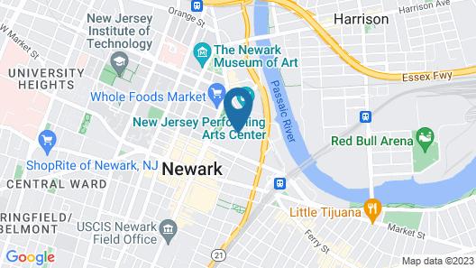TRYP by Wyndham Newark Downtown Map