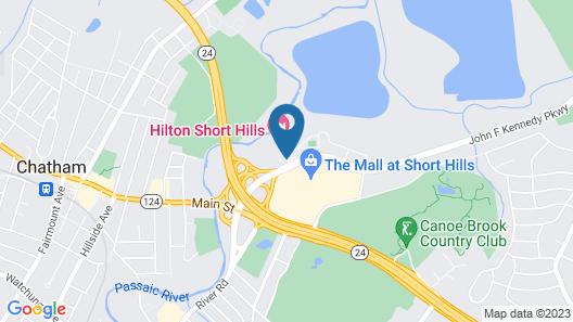 Hilton Short Hills Map