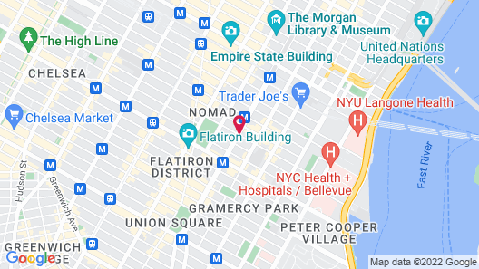 Hotel Giraffe by Library Hotel Collection Map