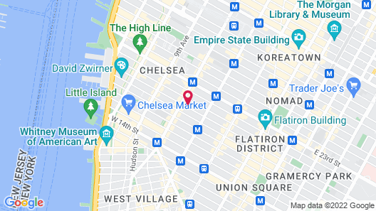 Chelsea International Hostel Map