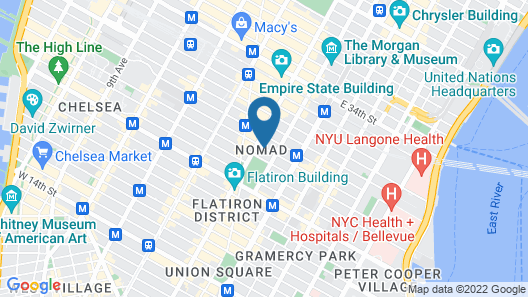 The Evelyn Hotel Map
