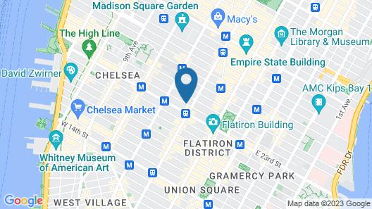 Hampton Inn Manhattan-Chelsea Map