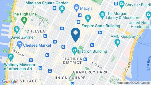 Flatiron Hotel Map