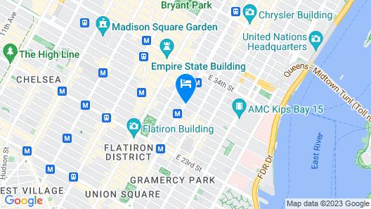 Clarion Hotel Park Avenue Map