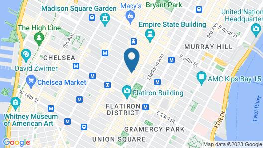Broadway Plaza Hotel Map