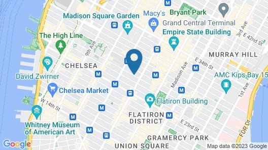Holiday Inn Manhattan 6th Ave - Chelsea Map