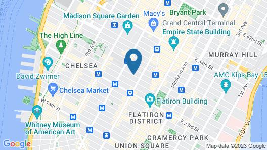 Holiday Inn Manhattan 6th Ave - Chelsea, an IHG Hotel Map
