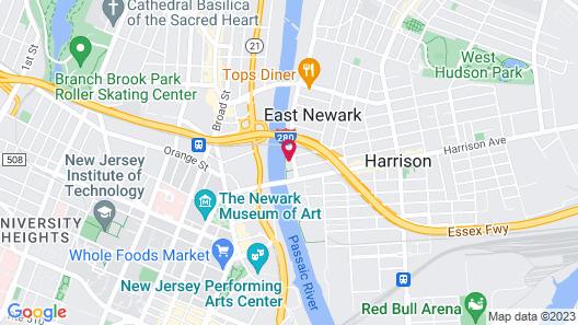 Hampton Inn & Suites Newark-Harrison-Riverwalk Map