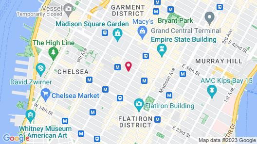 Hilton Garden Inn New York/Manhattan-Chelsea Map