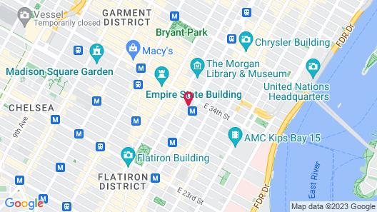 Hilton Garden Inn New York/Midtown Park Ave Map