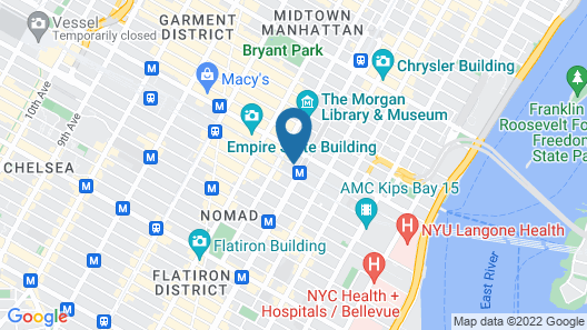 Hilton Garden Inn New York/Midtown Park Ave Map