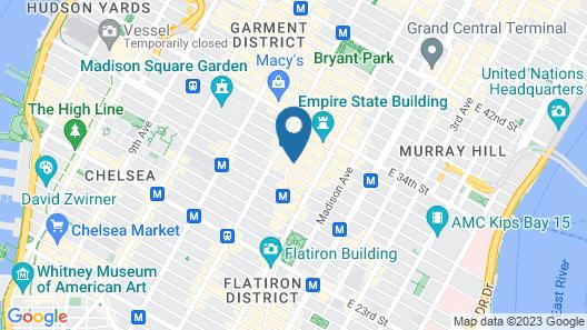 Studios in New York Map
