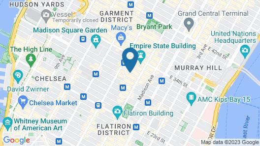 Hyatt Herald Square New York Map