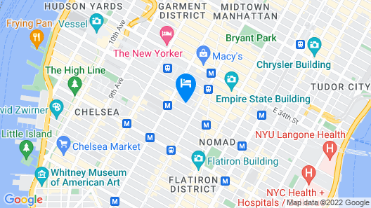 DoubleTree by Hilton New York City - Chelsea Map