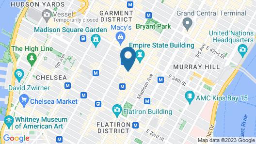 31 Street Broadway Hotel Map