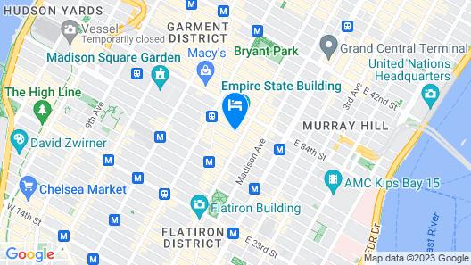 Nyma The New York Manhattan Hotel Map