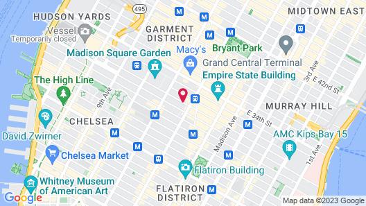 Hampton Inn Madison Square Garden Area Hotel Map