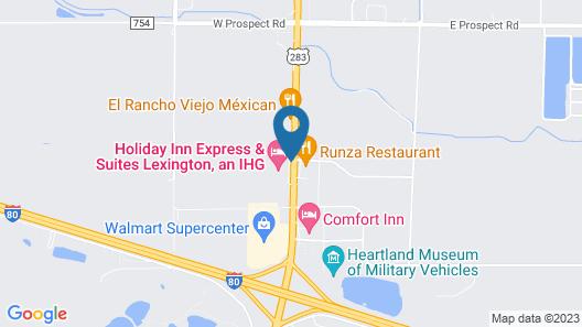 Holiday Inn Express & Suites Lexington, an IHG Hotel Map