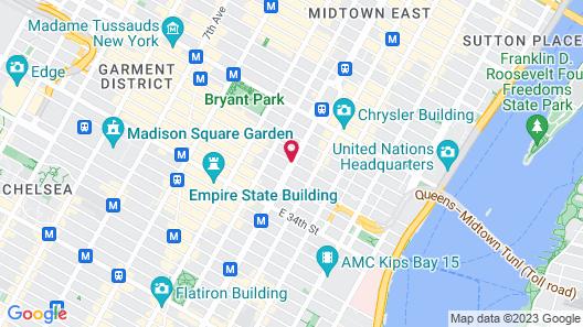 The Kitano Hotel New York Map