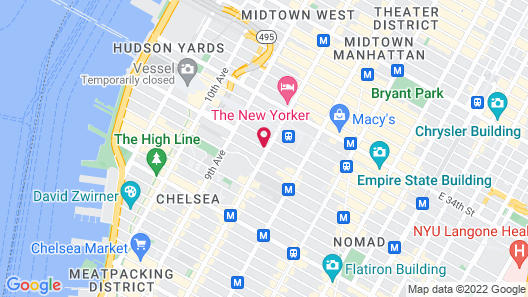 Midtown West Hotel Map