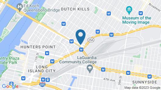 Courtyard Long Island City/New York Manhattan View Map