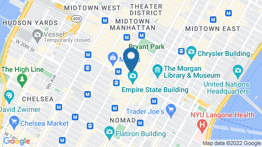 The Gregory Hotel Map