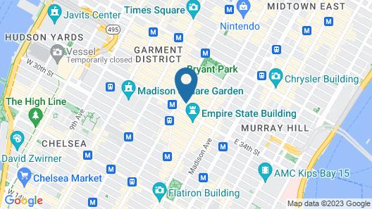 Hampton Inn New York - 35th Street - Empire State Building Map