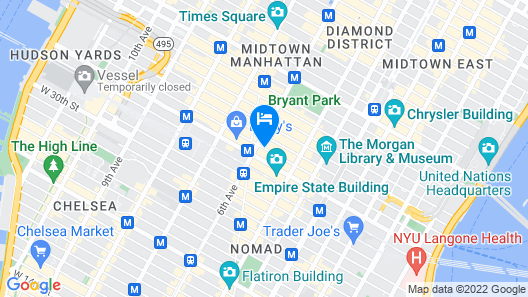 Hilton Garden Inn New York/West 35th Street Map