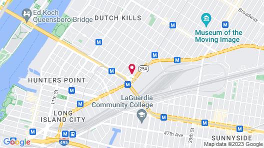 Hilton Garden Inn Long Island City New York Map