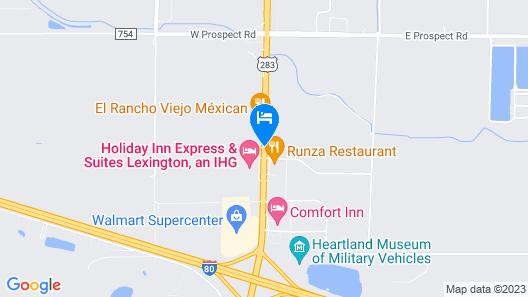 Econo Lodge Lexington Map