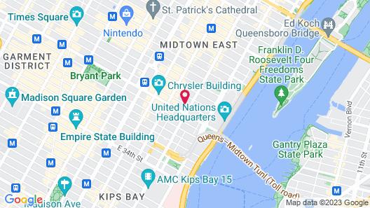 Hampton Inn Manhattan Grand Central Map
