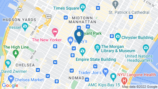 Holiday Inn Express Manhattan Times Square South, an IHG Hotel Map